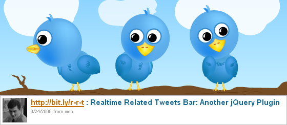 Realtime Related Tweets Bar: Another jQuery Plugin
