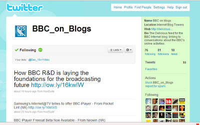 Tracking the BBC on blogs using Twitter