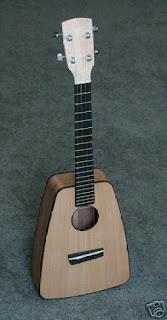 boat paddle ukulele shape