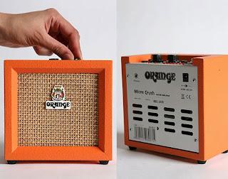 orange micro crush ukulele