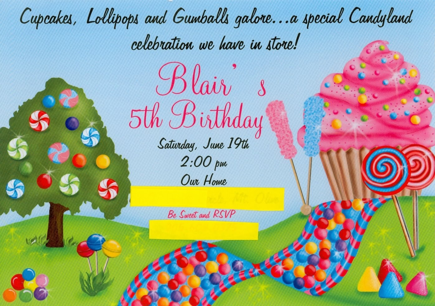 Candy Land Theme Invitations http://donna-dukesfamily.blogspot.com/2010_06_01_archive.html