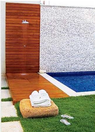 Casa tr s chic chuveiros de jardim - Duchas para piscina ...