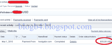 hostgator payment proof