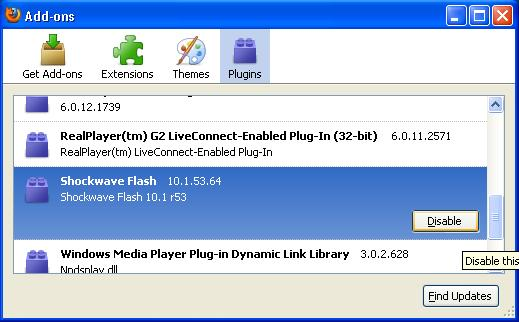 Disable Flash Player On Firefox @ Free Download Browser