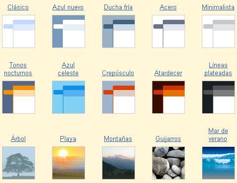 Colores y temas en Gmail
