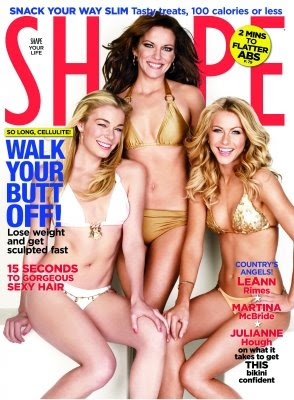 LeAnn Rimes on the cover of SHAPE