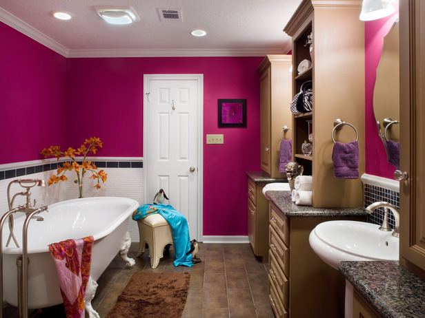 I am especially loving this fuchsia room since pink is my favorite color. Even more I love the darker tone of this pink and a very fun color in a bathroom ... & Luscious Life \u0026 Decor: Hot Paint Colors