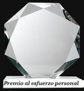 Este blog tiene el premio al Esfuerzo personal