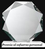 Este blog tiene el premio al Esfuerzo personal