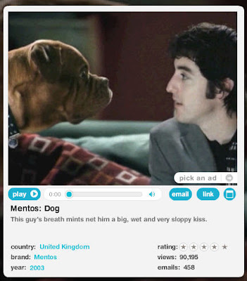 Very Funny Ads Mentos Dog Commerical screen shot
