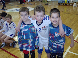 Mini handball players