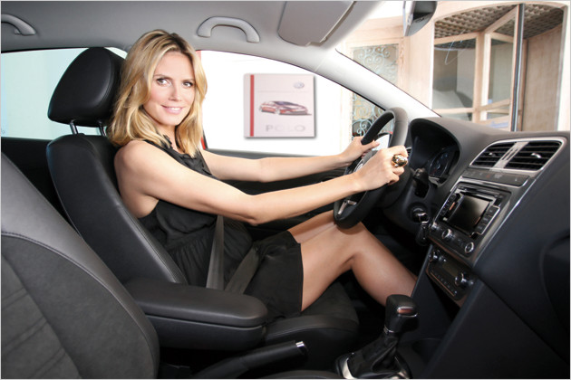 Celebrity car pictures : Heidi Klum - Garage Car
