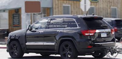 2012 Jeep Grand Cherokee SRT8 new spy shots