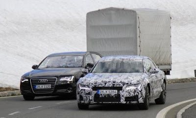 2012 Audi A7 new spy photos in Salzburg / Austria