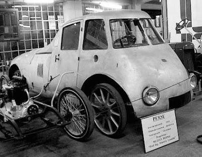 Persu Streamliner (1923):The world's first passenger car - photos