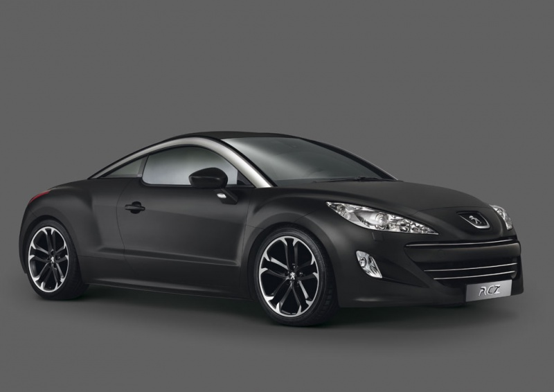 Peugeot RCZ Asphalt Black matte The first official photos