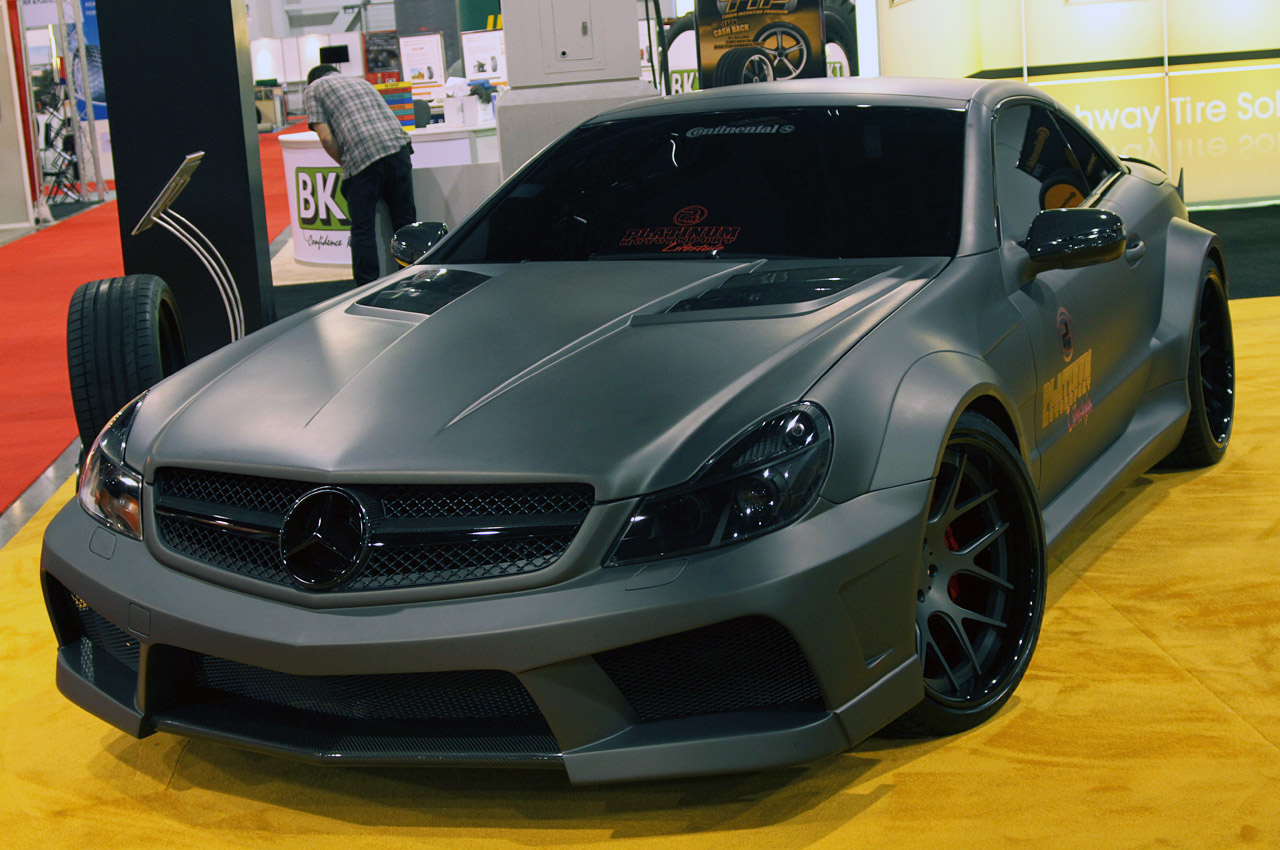 Mercedes Benz Black Matte Custom Paint Job
