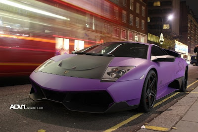 Purple and matt Lamborghini Murcielago LP670 SV 1 Car reviews:Purple and matt Lamborghini Murcielago LP670 SV