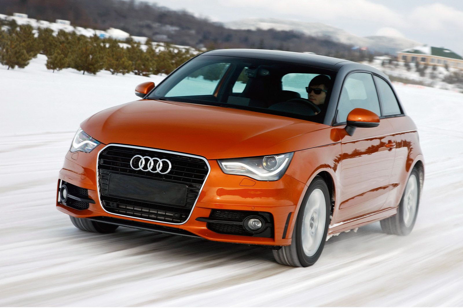 Audi a1 quattro was filmed during the winter tests in for Garage audi a1
