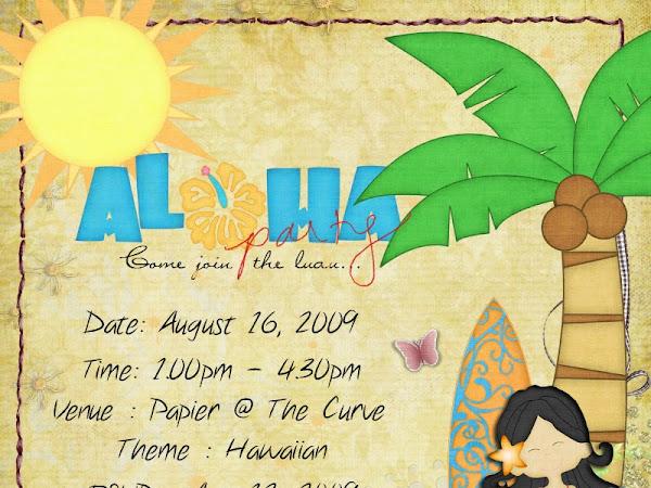 Papier's Aloha Party
