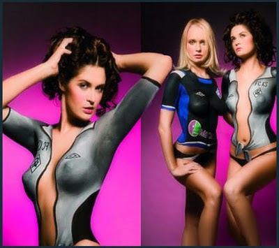 style body painting girls