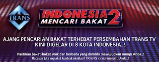 Poster Pendaftaran & Audisi Indonesia Mencari Bakat 2 Jakarta