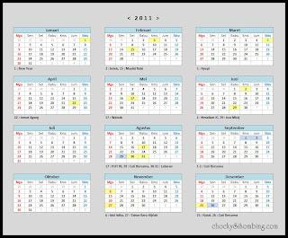 Kalender Hari Libur Nasional 2011