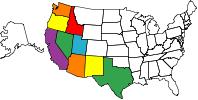 States that I have Geocached in.
