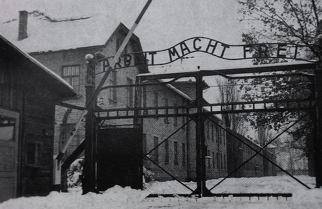 "Entrance of Auschwitz ""Work Makes One Free"""