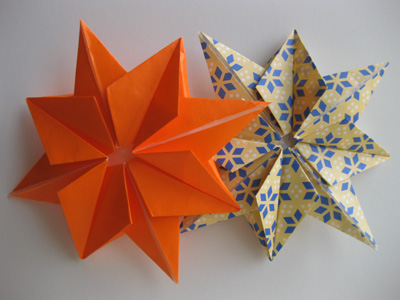 origami 8 pointed origami star