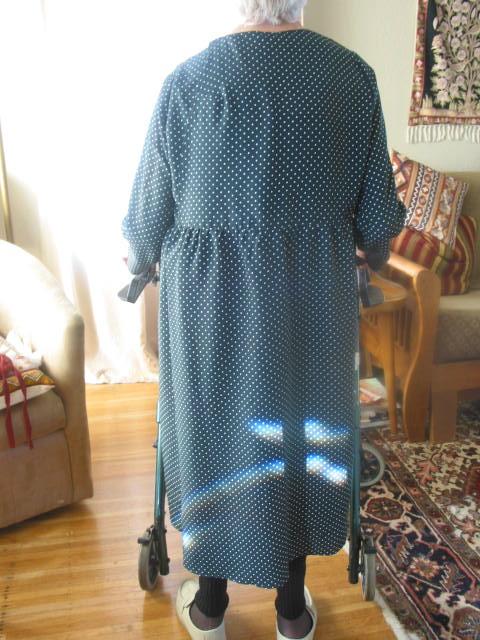 JillyBeJoyful: Sewing Adaptive Clothing - Mom\'s Wrap-back Dress