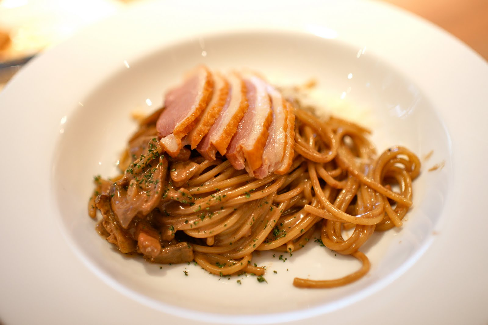 Smoked duck breast pasta recipe