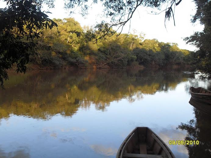 Las tranquilas aguas del río Pirapó.