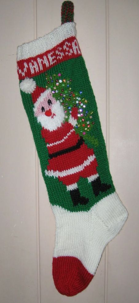 Knit Pattern For Christmas Stocking Kit : Playing with Thread and Other Things: Stocking #4