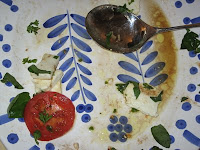 Beautiful platter that held local caprese salad