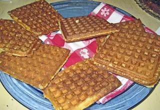 Becca's fantastic cornmeal waffles