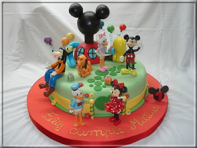 Arte Tortas Casa Mickey Mouse