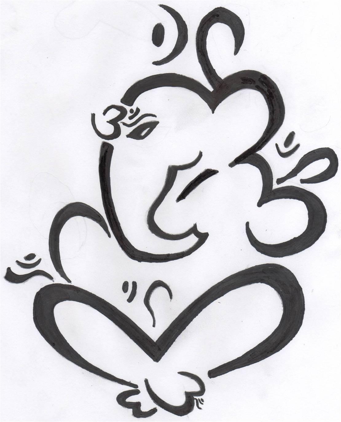 Tamil om Symbol Wallpaper om Ganesha Icon