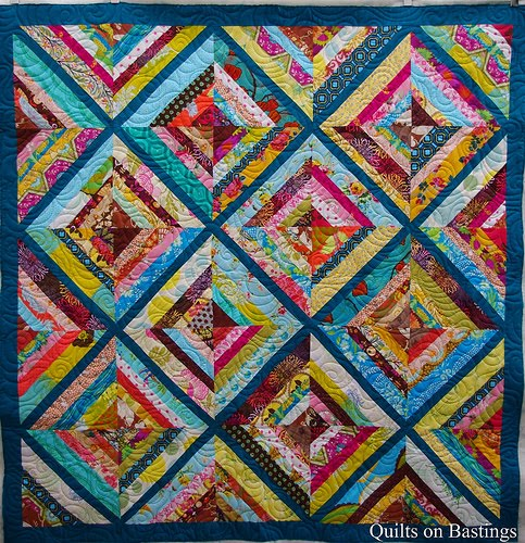 Quilts on Bastings: Kaleidoscope String Quilt