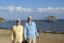 Fly fishing with Tyler in Roatan, Honduras