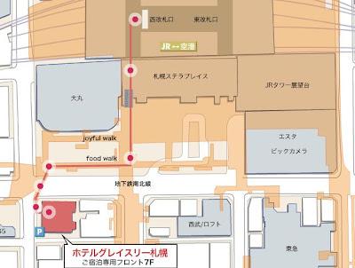 札幌GRACERY飯店地圖