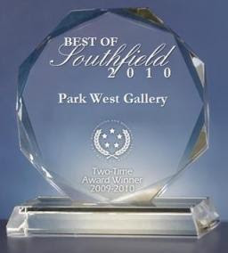 Park West Gallery Receives 2010 Best of Southfield Award
