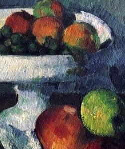 Paul Cézanne. Still Life with Fruit Dish (detail). 1879-80.