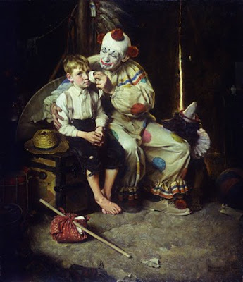 Norman Rockwell. The Runaway Boy and Clown. 1922. © 2009 National Museum of American Illustration™ Newport RI.