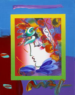 Blushing Beauty on Blends. Peter Max. 2006.