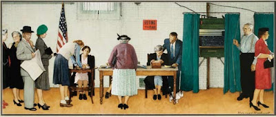 Norman Rockwell. Election Day. 1944.