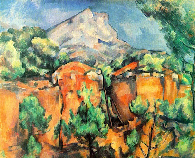 Paul Cézanne. Mont Sainte-Victoire Seen from the Bibemus Quarry. c. 1897.