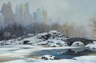 Central Park Bridge - Winter. Alexander Chen.