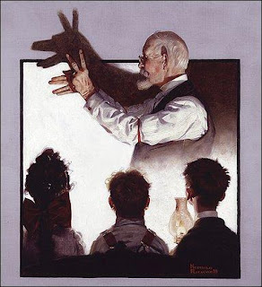 Norman Rockwell. Shadow Artist. 1920.