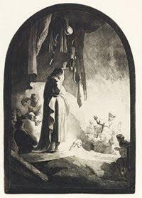 The Raising of Lazarus: Larger Plate. Millennium Impressions Image. Rembrandt van Rijn.